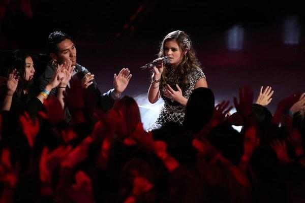 "Jacquie Lee performs on ""The Voice."""