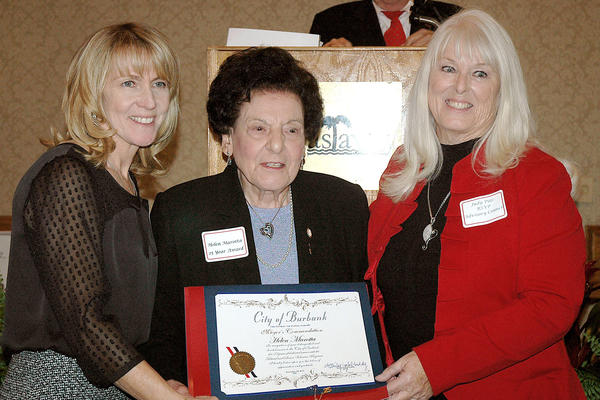 Retired Senior Volunteer Program Director Dee Call, from left, with Helen Marotta, honored for serving 25 years as a volunteer, and Judy Pike, president of the group's Advisory Council.