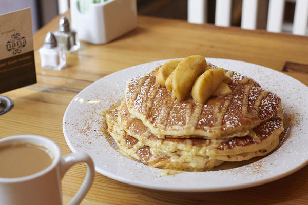 Cinnamon apple pancakes at Nana
