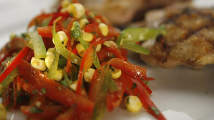 Bell pepper and corn slaw