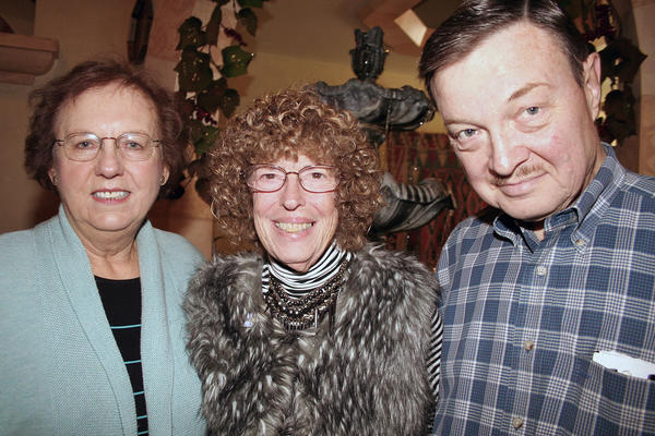 Glendale?s Carousel Restaurant was the choice for brunch by Glendale residents, at left, Margaret Kaufman, Marilyn Gunnell and husband Dr. John Gunnell.