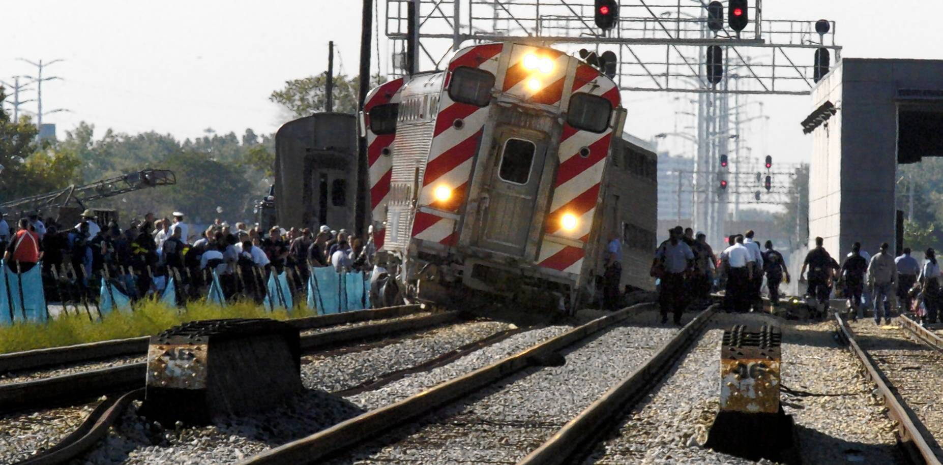 A 2005 Metra derailment on the Rock Island Line killed two passengers. The National Transportation Safety Board said the train was speeding and its engineer was inattentive. The agency said positive train control could have prevented the accident.