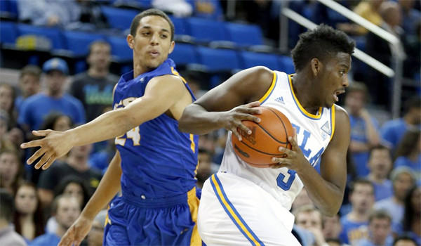 UCLA guard Jordan Adams had with 22 points five assists and four steals in the Bruins' win Tuesday over Gauchos, 89-76, at Pauley Pavilion.