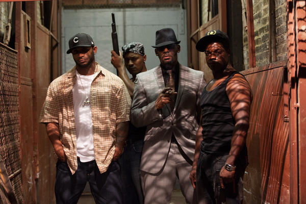 "R.Kelly (second from right) as Sylvester in ""Trapped in the Closet, Chapters 22-33."""