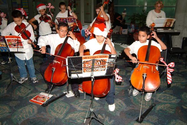 Broward County school children perform during the 2009 Winter Music Festival at Fort Lauderdale-Hollywood International Airport.
