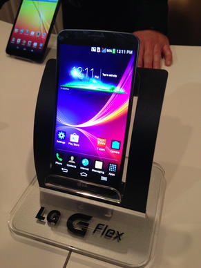 LG has taken the wraps off the LG G Flex smar