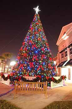 Clark Sales Display installed the holiday decorations at Winter Park Village, including the 42-foot Christmas tree. We wanted the works,' said Leslie Wright, the Village's property manager.