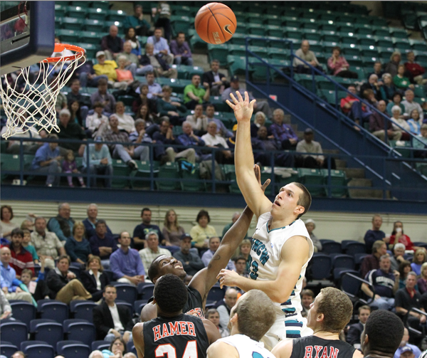 UNC-Wilmington senior forward Shane Reybold.