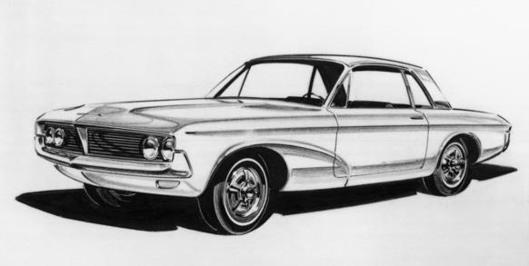 In early 1962, one of the many proposals for the Mustang was essentially a mini version of the Thunderbird that borrowed many cues from the upcoming 1963 model.