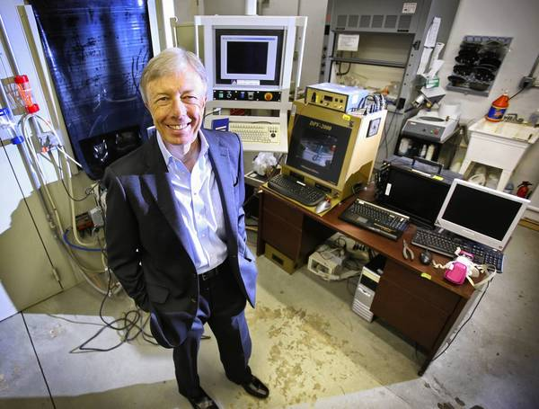 Chris Morton, a scientist-entrepreneur and CEO of Orlando-based NanoPhotonica Inc., Thursday, Nov. 21, 2013. Morton says his company has developed a next-generation smartphone screen-lighting system for the consumer electronics industry.