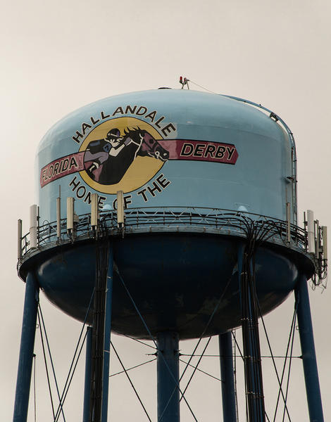 The other water tower in Hallandale -- the one that's a few miles from the beach -- will soon be torn down.