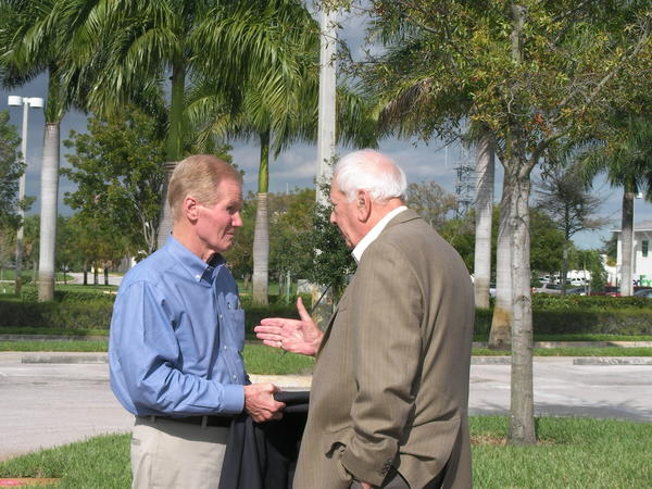 U.S. Sen. Bill Nelson (left) and former Palm Beach County Commissioner Burt Aaronson