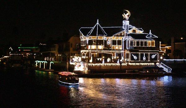A festively decorated home along the Cruise of Lights route in Huntington Harbour in 2009.