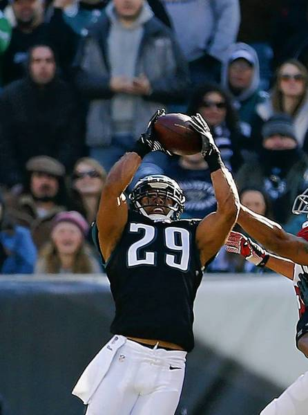 Eagles safety Nate Allen came up with a big interception in the win over Arizona last Sunday.