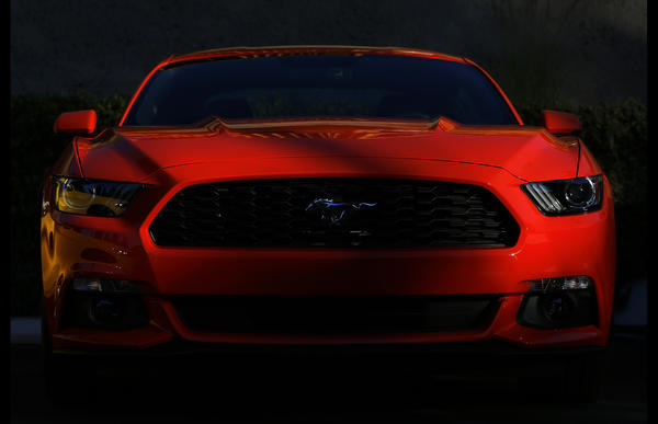 The sixth-generation of the car had to have what Ford designer Joel Piaskowski called the three hallmarks of a Mustang: the shark nose, the tri-bar tail lamps and the fast-back roof profile.