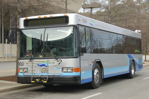 A Hampton Roads Transit bus. Photo courtesy of HRT.