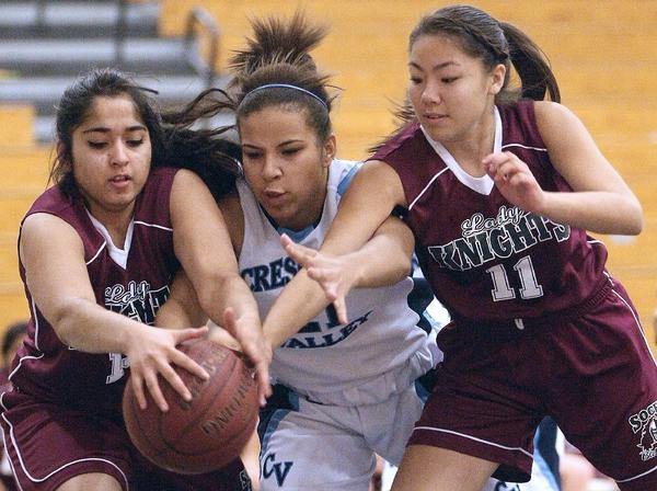 Crescenta Valley High's Josie Brock and the Falcons won their tournament opener on Wednesday.