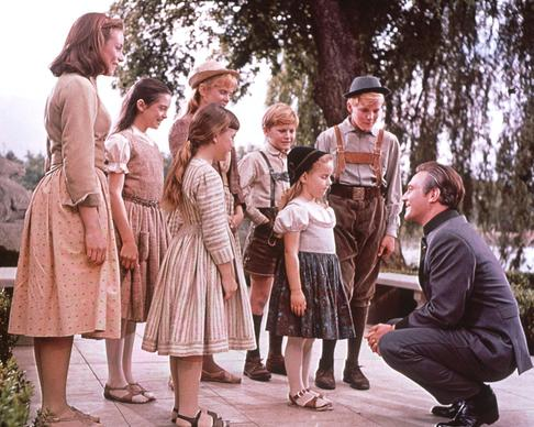 The Von Trapp children learn a lesson from their father.