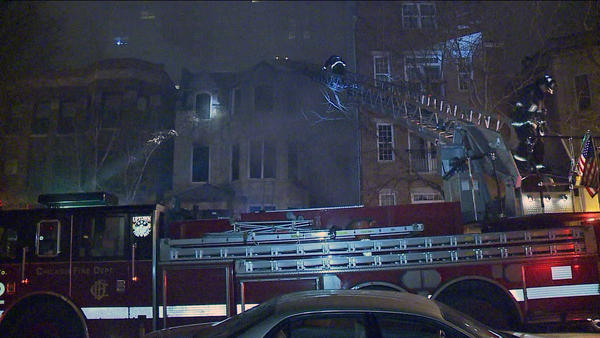 A fire started at about 4:30 a.m. at a vacant 3-story building in the 4600 block of North Kenmore Avenue.