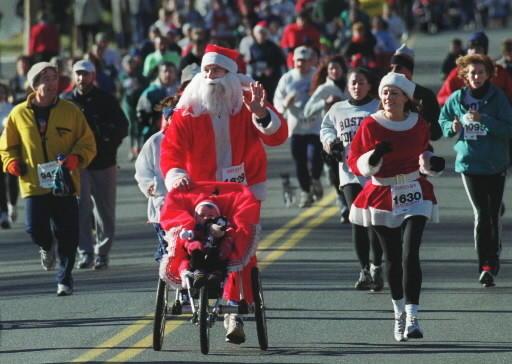The popular Santa's Run kicks off on Sunday.