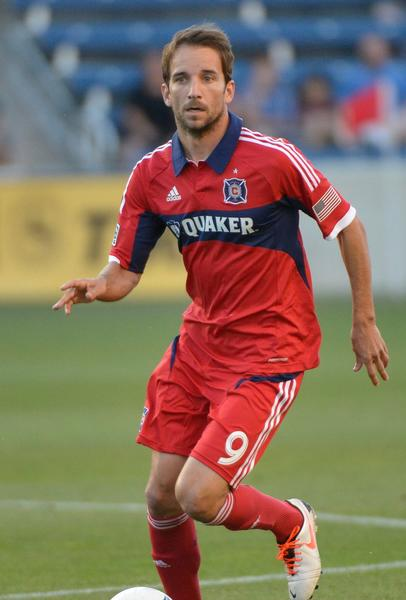 Chicago Fire player Mike Magee during the match against the Colorado Rapids at Toyota Park.