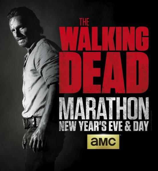 "AMC will marathon all four seasons of ""The Walking Dead"" beginning Dec. 31."
