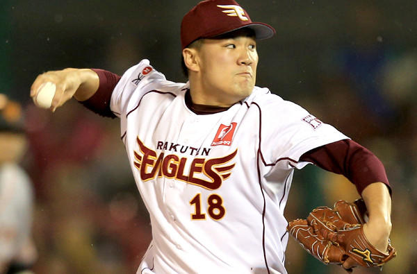 Masahiro Tanaka helped the Rakuten Golden Eagles win the Nippon Baseball League championship last season.