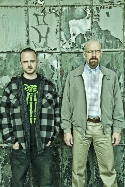 "Jesse Pinkman (Aaron Paul) and Walter White (Bryan Cranston) in AMC's ""Breaking Bad."" (Frank Ockenfels/Courtesy AMC/MCT)"