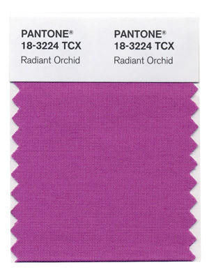 Color forecaster Pantone announced Radiant Orchid as its color of the year for 2014.