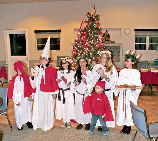 Sons of Norway Edvard Grieg Lodge will hold a Santa Lucia procession and Christmas program on Saturday, Dec. 14 at Lutheran Church of the Foothills. Above, children participate in a previous Christmas program.