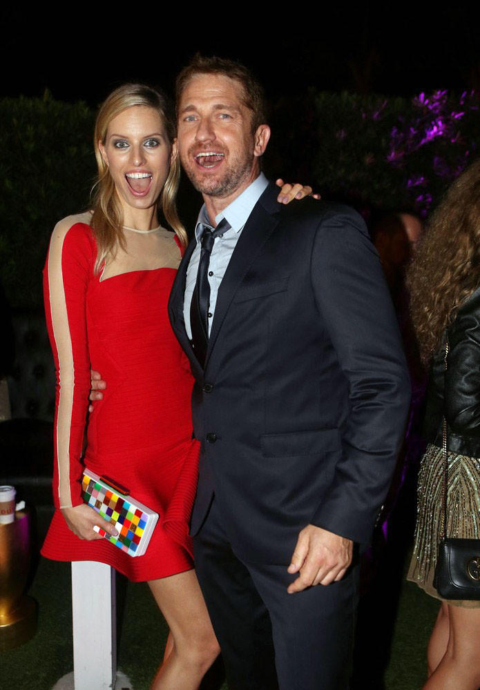 PHOTOS: Artists, celebs at Art Basel - Gerard Butler and  Karolina Kurkova  at the Roger Dubois party