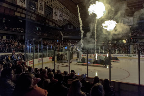 Fireworks are one reason an Ohio website named the Wolves as having the best pregame introductions in sports.