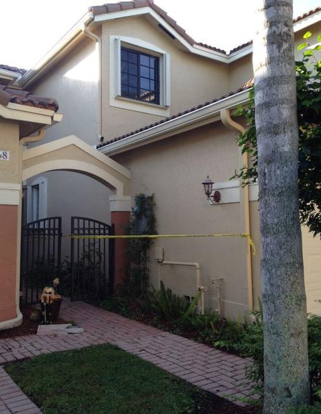 The Maldonado townhome on Vineyard Circle in Weston remained a crime scene on Wednesday, Dec. 4, 2013.