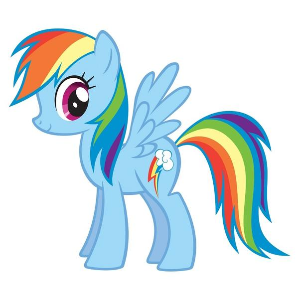 "Rainbow Dash is one of the stars of Lauren Faust's toy-as-cartoon series ""My Little Pony,"" which has a new season on the Hub and a new DVD collection on Shout Factory."