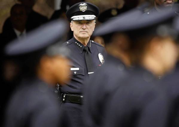 Then-Los Angeles Police Chief Bill Bratton reviews new officers at their graduation from the L.A. Police Academy in 2009. Bratton, 66, will probably need a repeat performance of his deft touch as LAPD chief when he takes over the New York Police Department -- an agency he headed once before from 1994 to 1996.