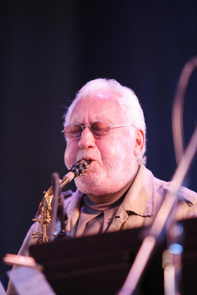 Alto Saxophonist Lee Konitz leads his New Nonet at the Petrillo Music Shell at the Chicago Jazz Festival.