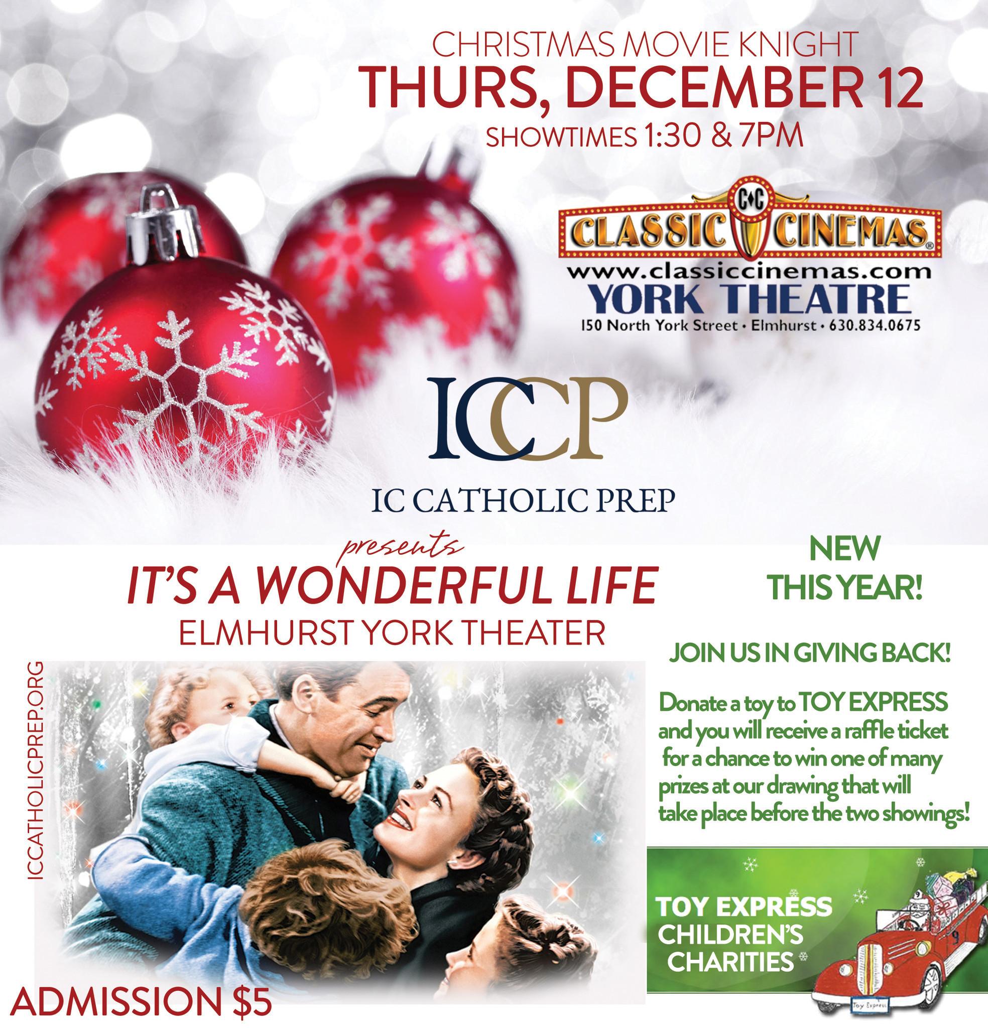 IC Catholic Prep and Classic Cinemas York Theatre To Host Christmas ...