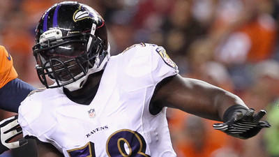 Ravens' Elvis Dumervil not practicing for third day in a row