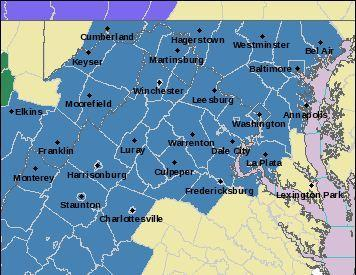 A winter storm watch for Sunday into Monday morning is in effect for Baltimore and points west and southwest.