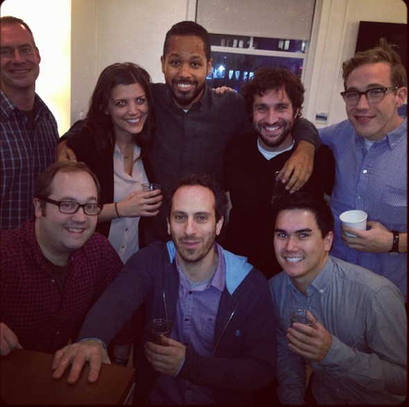 Seth Meyers writing staff image posted by Splitsider.