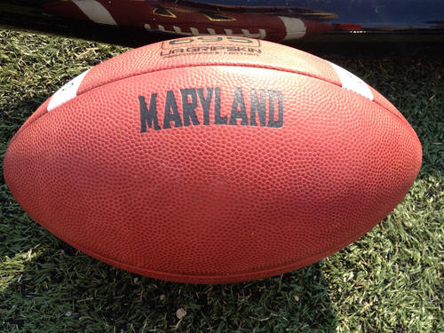 Training camp begins. Did you know that schools have their own footballs, and would you believe that Maryland's is made by Under Armour?