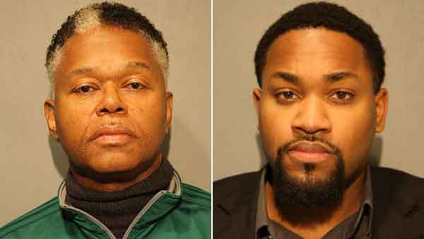 Booking photos of Stanley Stallworth and Therrie Miller (from left)