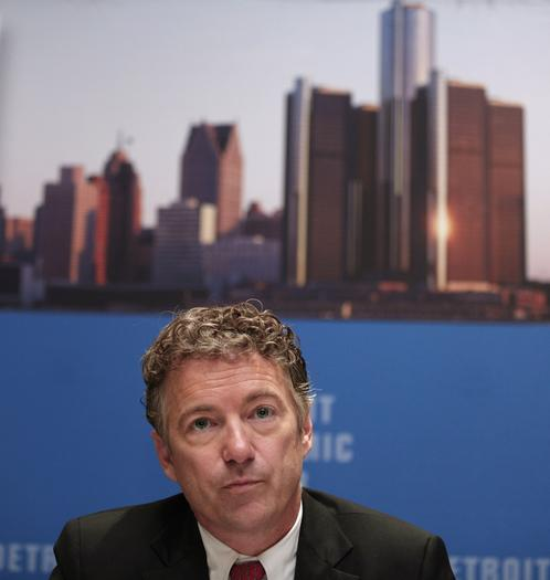 Sen. Rand Paul visits Detroit