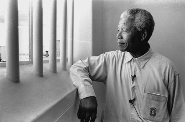 Mandela on Robben Island