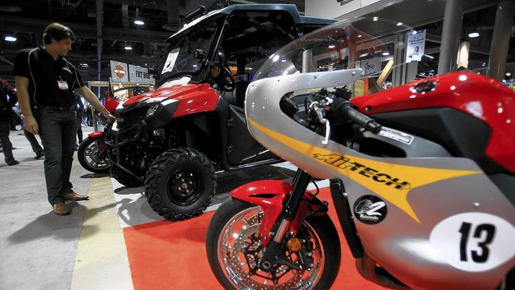 motorcycle show putting a 4-wheeled spin on offerings