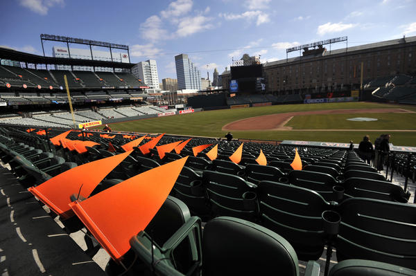 """The Orioles announced changes Friday to their ticket prices and pricing model at Camden Yards, shown during the club's """"Tag Day"""" event earlier this year."""