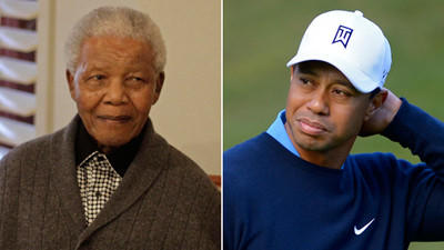 Tiger Woods shares wise words from a meeting with Nelson Mandela
