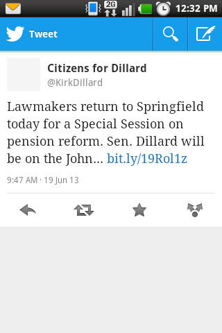 Inadvertent potty humor in a Tweet from Citizens for Dillard.