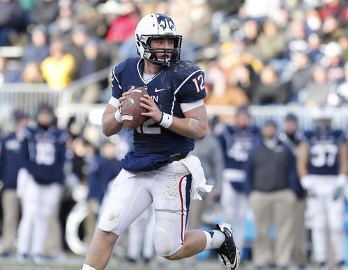 UConn quarterback Casey Cochran completed 36 of 54 passes for a school-record 461 yards. (US Presswire)