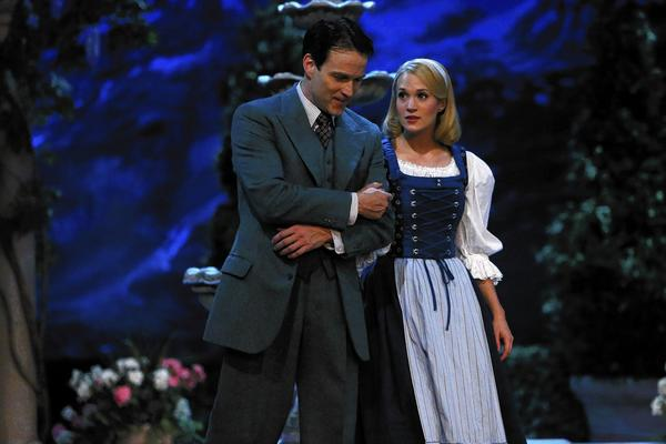 "Stephen Moyer, left, as Captain Von Trapp and Carrie Underwood as Maria in ""The Sound of Music Live!"""